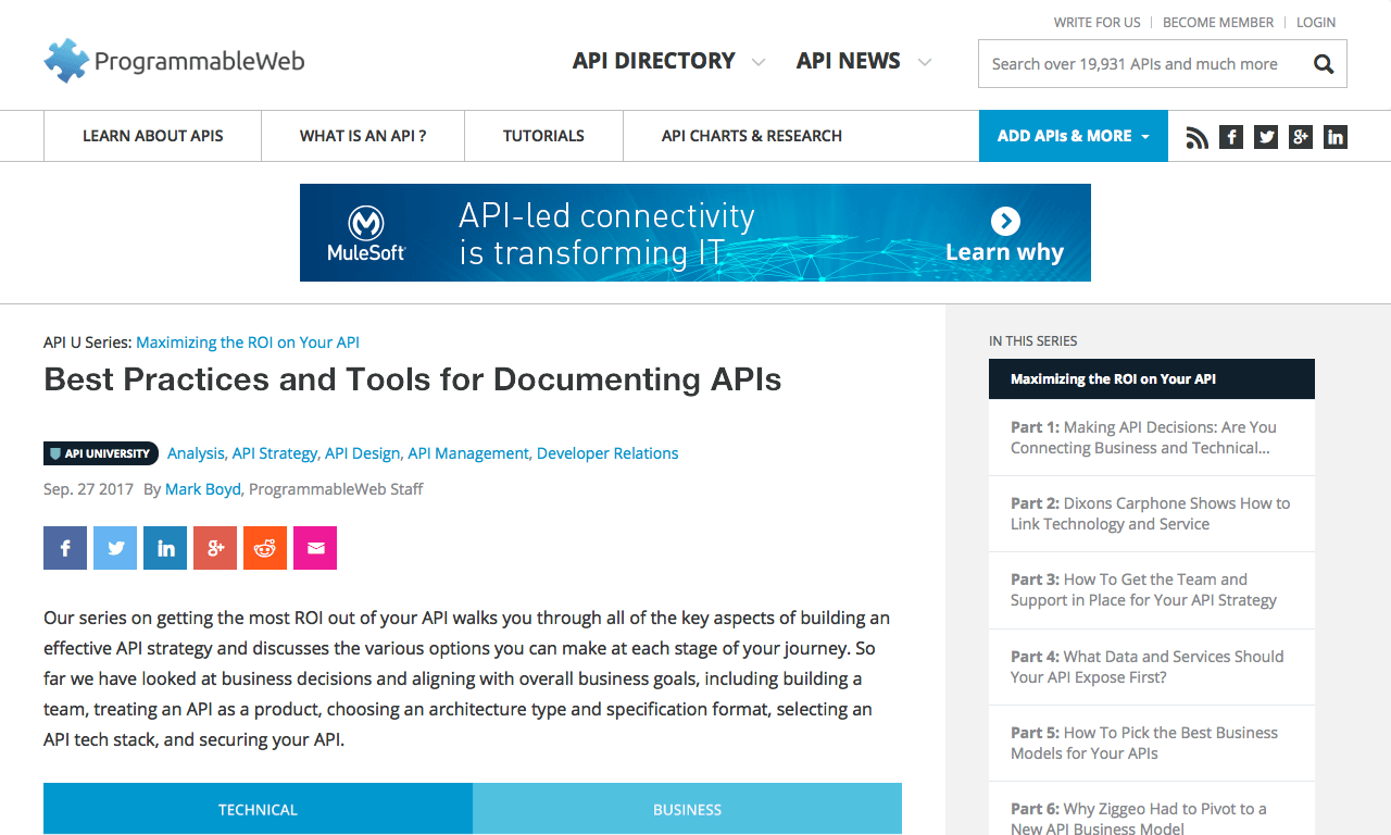Best Practices and Tools for Documenting APIs