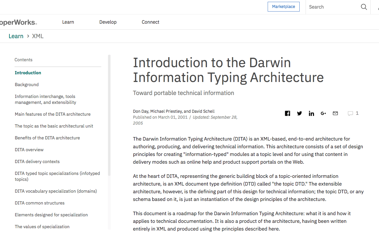 Introduction to the Darwin Information Typing Architecture
