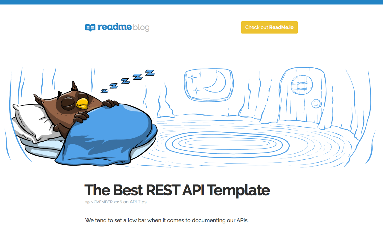 The Best REST API Template - ReadMe io - DocToolHub
