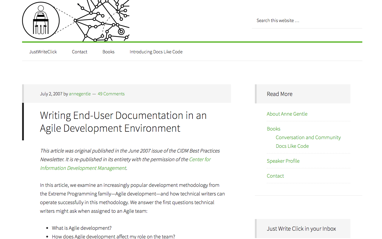 Writing End-User Documentation in an Agile Development