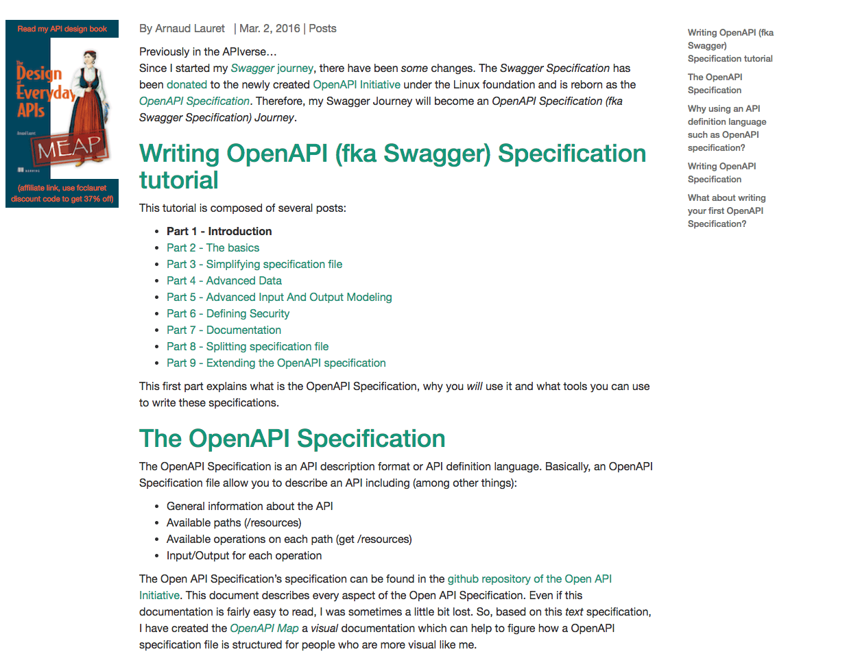 Writing an OpenAPI (Swagger) Specification Tutorial - API