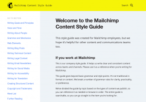 The Mailchimp style guide