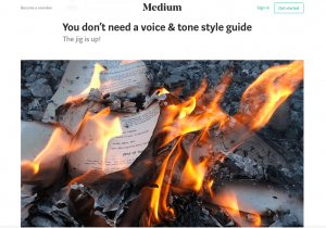 You don't need a style guide