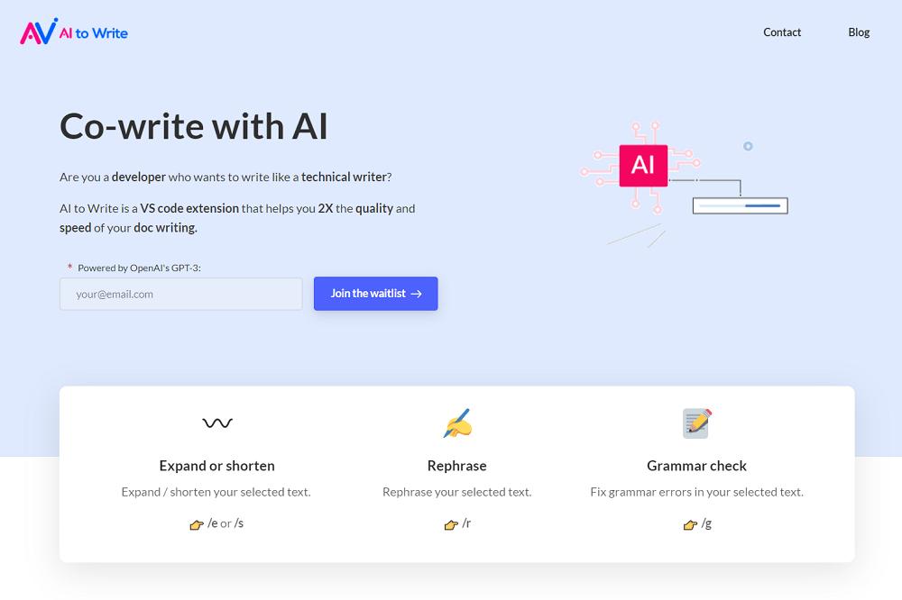 AI to Write