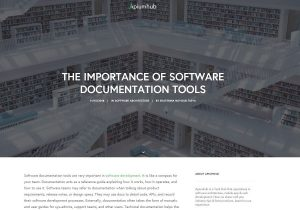 The Importance of Software Documentation Tools