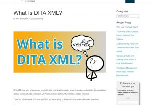 What is DITA XML?